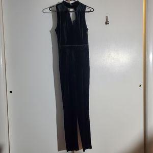 🌠3/$12 or FREE🌠 Black velvet jumpsuit